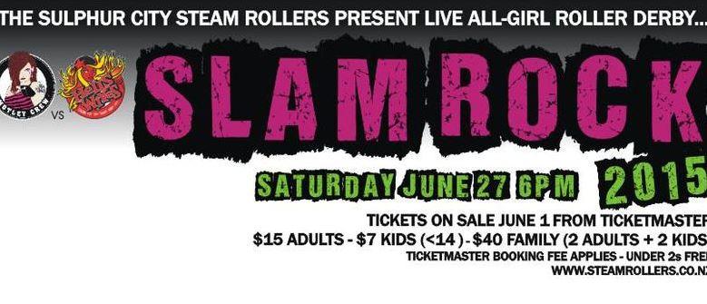 Slam Rock 2015 Rotorua's Annual Roller Derby Palm Court Rotorua