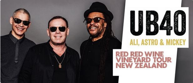 UB40 Red Red Wine Yineyard Tour Palm Court Rotorua