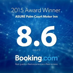 booking.com award for palm court rotorua motel