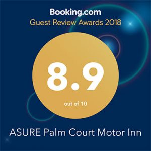booking.com guest review award for palm court rotorua motel 2018