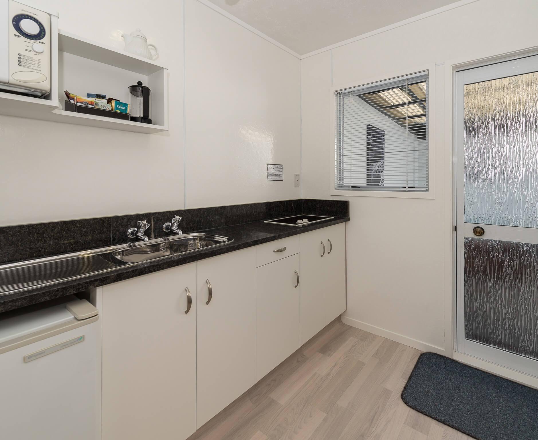 Kitchen View - Unit 4 Twin Studio Unit | Palm Court Rotorua