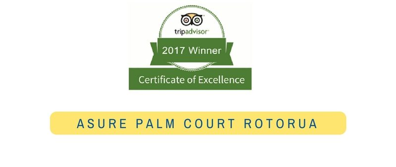 Palm Court Rotorua - TripAdvisor Certificate of Excellence