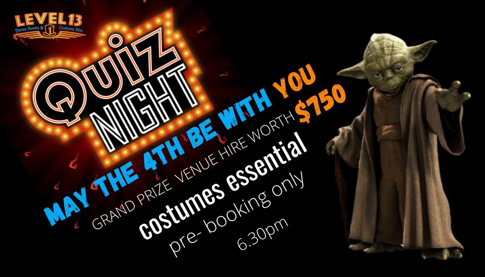 Rotorua Events | Apr-Jun 2021 May the 4th Star Wars Quiz
